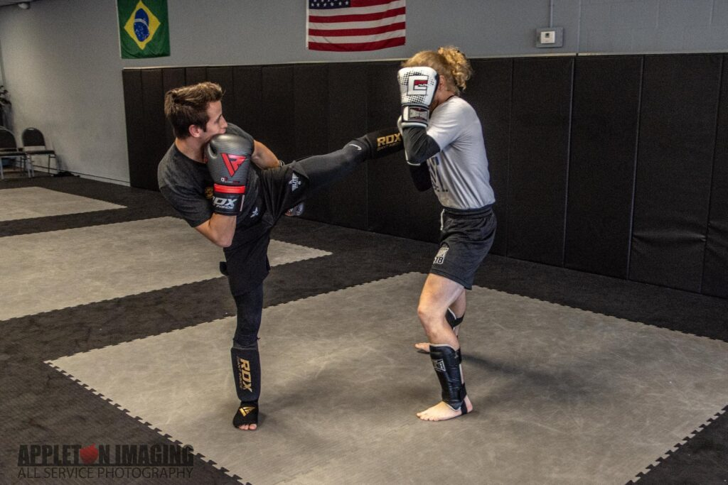 Two Students Sparring
